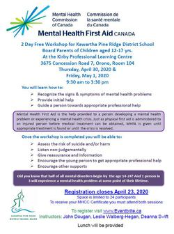 Mental Health First Aid Canada for Parents